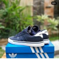 Sepatu Sneaker Adidas Neo Daily Skate Navy Pria