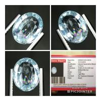 Natural 2.716ct Aquamarine Beryl Rainbow Phenomena Top Quality