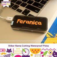 Stiker Nama Waterproof, Cutting Sticker, Label Nama Anak tanpa gambar