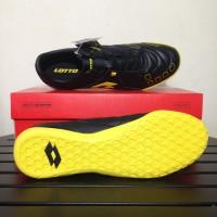 Sepatu Futsal Lotto Squadra IN Black Sunshine L