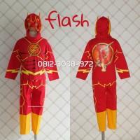 Baju Kaos Kostum Anak Karakter Superhero FLASH THE FLASH