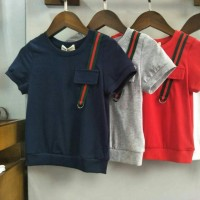 baju anak laki import branded atasan kaos top gucci list samping putih