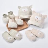 Newborn Baby Set - Perlengkapan Bayi Set Topi Sarung Tangan Sepatu Owl