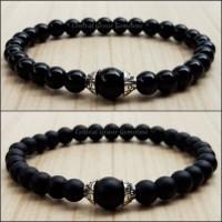 Gelang Batu Black Onyx Glossy / Balck Onyx Doff Plus Variasi