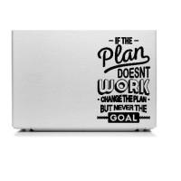 Stiker Laptop Quotes If Plan Goal Aksesoris Garskin Cutting Sticker HP