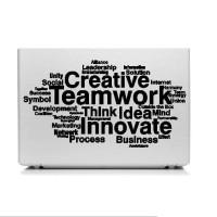 Stiker Quotes Creative Aksesoris Laptop HP Garskin Cutting Sticker Wor