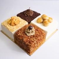 Quatre Cake - Nastar, Kastengel, Chocolate & Mocha Nougat Cake