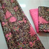 Bahan & Kain Bakal Kebaya Set Katun Batik Bunga