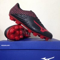 Sepatu Bola Mizuno Basara 103 MD Black High Red P1GA186460 Original
