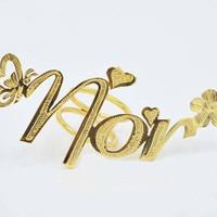 Bros/ring hijab nama lapis emas 24k