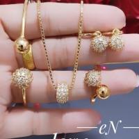 xuping set perhiasan kalung gelang cincin terbaru dan terlaris