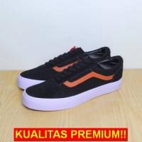 monalistore11 Sepatu Vans OldSkool - Hitam List Coklat (GRADE ORIGINAL