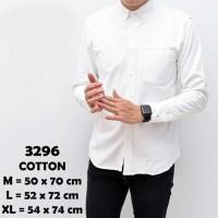 Baju Kemeja Lengan Panjang Formal Pria Putih Polos Slimfit 3296