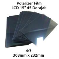 Polarizer Film LCD Monitor TV 15 inch 45 Derajat / Polarized