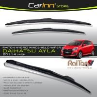Raiton Sepasang Wiper Hybrid Kaca Depan Mobil Daihatsu Ayla 20&14