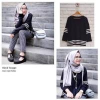 Hot Seller Baju Atasan Rajut Black Tanggo Nisa Sabyan Limited