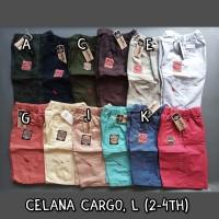 Size L Celana Cargo Pendek Anak Laki Laki denim katun twil