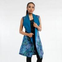 Batik Pria Tampan - LONG VEST EXOTRINICA ABS BLUEBERRY PINE TEXTURE - Biru, M