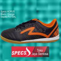 PREMIUM Sepatu Futsal SPECS HORUS Black Orange