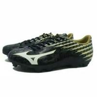 Sepatu Bola Mizuno Basara 104 MD Black White Gold Diskon