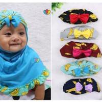 Jilbab anak motif renda pisang