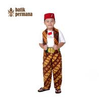 Baju adat betawi anak lengkap batik, pangsi betawi anak, baju kartini