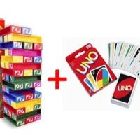 uno balok stacko / stako + kartu uno / uno card