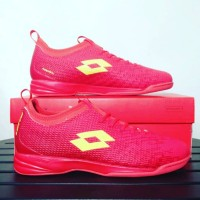 Sepatu Futsal Lotto Spark Solar Red L01040005 Original