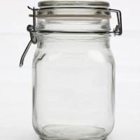 2000ml Toples Kaca Hermetico/ Hermetico Jar 2L/Toples Beling Hermetico