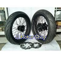 Sepaket Velg Super Moto SuperMoto Honda CRF 150 Ban IRC Bisa Req Warna