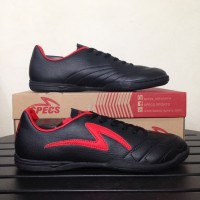 Sepatu Futsal Specs Ricco Black Emperor Red Original