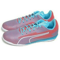 Sepatu Futsal Puma 365 Ignite CT (Turquoise/White/Coral Diskon