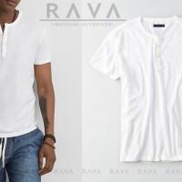Dijual Baju Kaos Pria Henley Oblong Original by RAVA (PROMO BE Murah