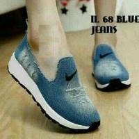 Sepatu Slip On NiKe Biru Tua