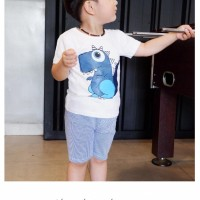 Baju Anak Lucu - Stelan Kaos Anak Dino Saurus - Ad Kind - Babamu
