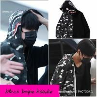 black bape hoodie/hoodie kpop/hoodie unisex
