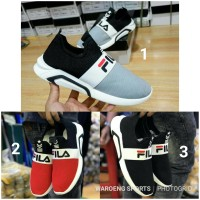 Sepatu Fila Slip On Cowok Cowo Fashion Slop Sport Running Men Man Pria