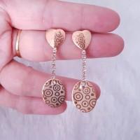 Anting Motif Batik Elegan Perhiasan Lapis Emas Gold 18K