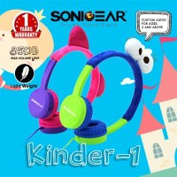 Headshet Headphone Sonicgear Headset Kinder 1 Child Sound Safe Blue
