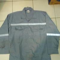 Baju Seragam Kerja Safety Lengan Panjang Abu-abu