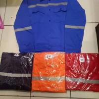 Baju Seragam Kerja Safety Lengan Panjang Biru BCA