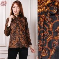 SB Collection Atasan Blouse Rani Kemeja Lengan Panjang Batik Wanita