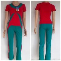 Baju Senam wanita setelan baju senam perempuan dewasa