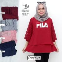 baju wanita blouse tunik fila muslim modern modis lucu unik trendi