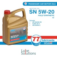 OLI 77 LUBRICANTS MOTOR OIL SN 5W-20 (GALON 4 Liter)