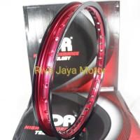 Ring Rim Velg Tdr 140 - 17 W Mirror Dua Tone Hitam Merah