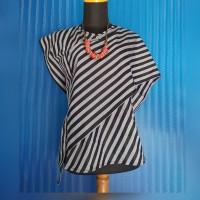 Atasan Baju Batik Blouse Wanita Lurik Maheswari