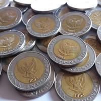 Tahun 1993 Uang Lama Kuno Koin Logam 1000 Rupiah Seribu Kelapa Sawit