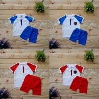 Setelan Baju Anak Olahraga Laki Laki Perempuan Bayi Balita Katun Impor