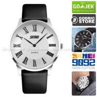 SKMEI 9092 Jam Tangan Pria Cowok Kulit Leather Casio Casual WR 30M